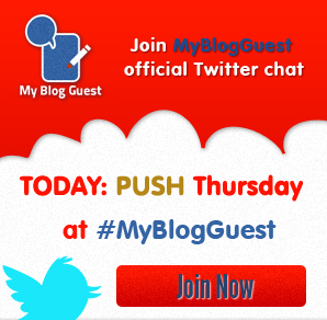 Guest Post Push Thursday - MyBlogGuest Twitter chat