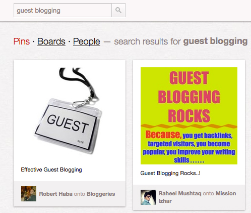 pinterest guest blogging