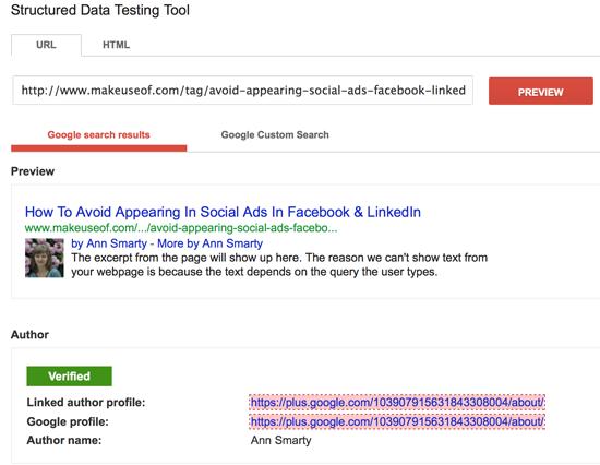 Test authorship markup