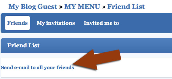 Invite to friends