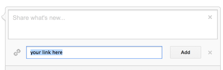 "Put a post URL in ""link field"""