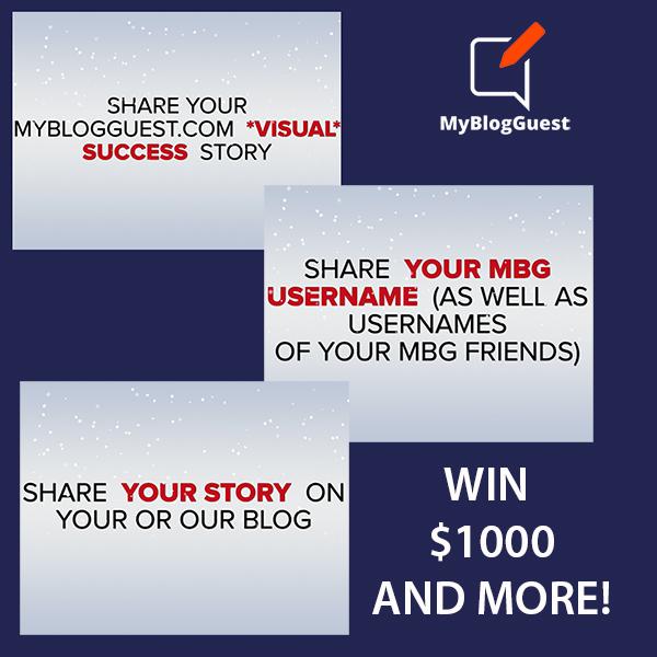 Guest blogging contest