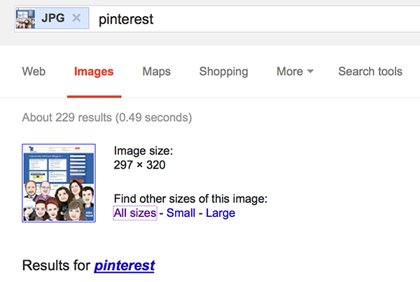Pinterest: Google Image Search