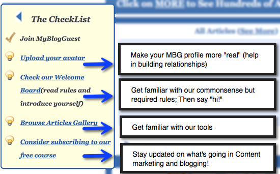myblogguest checklist